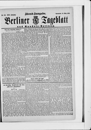 Berliner Tageblatt und Handels-Zeitung vom 15.03.1890