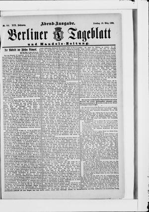 Berliner Tageblatt und Handels-Zeitung vom 18.03.1890