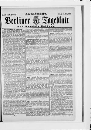 Berliner Tageblatt und Handels-Zeitung vom 19.03.1890