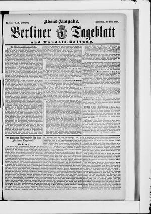 Berliner Tageblatt und Handels-Zeitung vom 20.03.1890