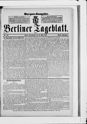 Berliner Tageblatt und Handels-Zeitung vom 22.03.1890