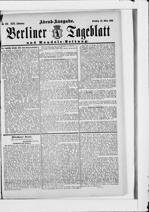 Berliner Tageblatt und Handels-Zeitung vom 25.03.1890