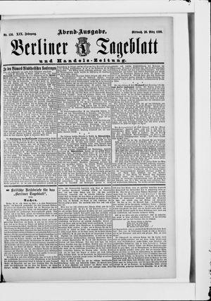 Berliner Tageblatt und Handels-Zeitung vom 26.03.1890