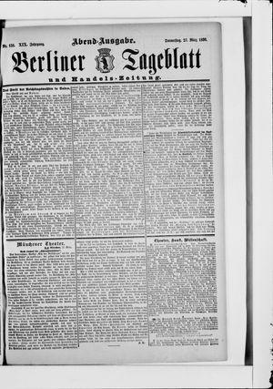 Berliner Tageblatt und Handels-Zeitung vom 27.03.1890