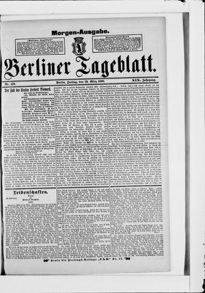 Berliner Tageblatt und Handels-Zeitung vom 28.03.1890
