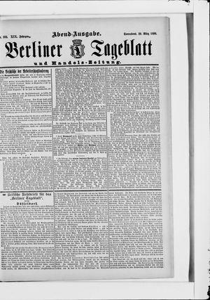 Berliner Tageblatt und Handels-Zeitung on Mar 29, 1890