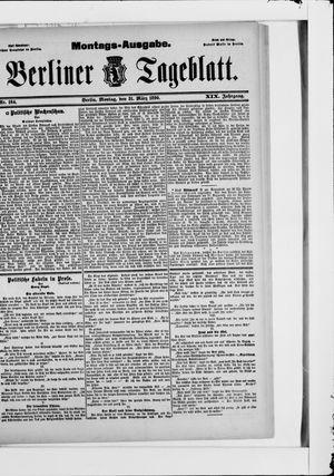 Berliner Tageblatt und Handels-Zeitung vom 31.03.1890