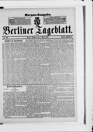 Berliner Tageblatt und Handels-Zeitung vom 01.04.1890