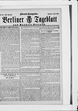Berliner Tageblatt und Handels-Zeitung vom 02.04.1890