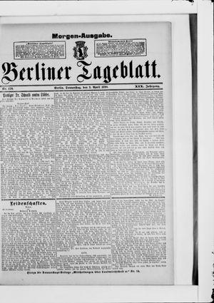 Berliner Tageblatt und Handels-Zeitung vom 03.04.1890