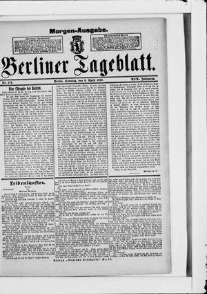 Berliner Tageblatt und Handels-Zeitung vom 06.04.1890