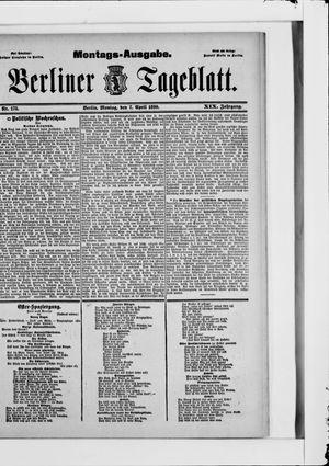 Berliner Tageblatt und Handels-Zeitung vom 07.04.1890