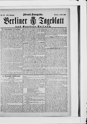 Berliner Tageblatt und Handels-Zeitung vom 08.04.1890