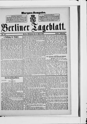 Berliner Tageblatt und Handels-Zeitung vom 09.04.1890