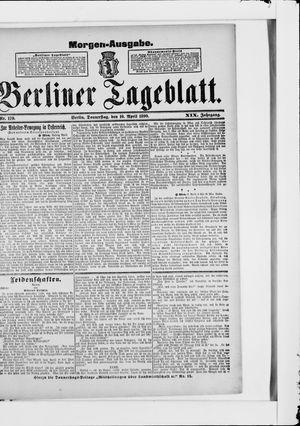Berliner Tageblatt und Handels-Zeitung vom 10.04.1890