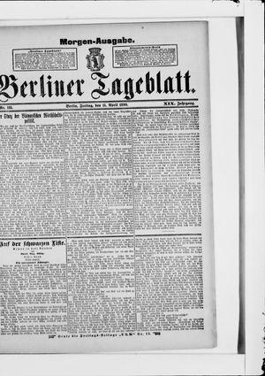 Berliner Tageblatt und Handels-Zeitung vom 11.04.1890