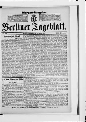 Berliner Tageblatt und Handels-Zeitung vom 12.04.1890
