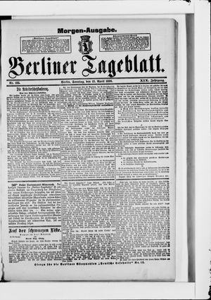 Berliner Tageblatt und Handels-Zeitung vom 13.04.1890