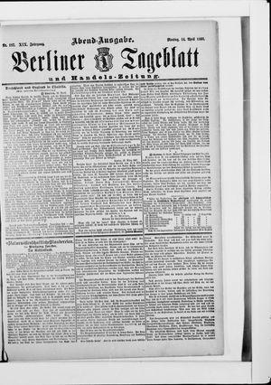 Berliner Tageblatt und Handels-Zeitung on Apr 14, 1890