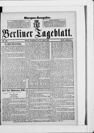 Berliner Tageblatt und Handels-Zeitung vom 17.04.1890