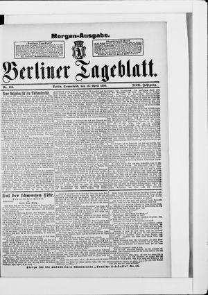 Berliner Tageblatt und Handels-Zeitung vom 19.04.1890