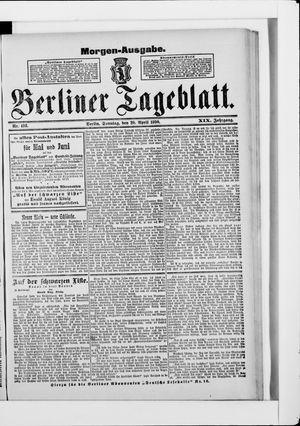 Berliner Tageblatt und Handels-Zeitung vom 20.04.1890