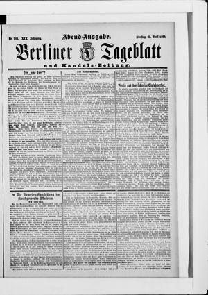 Berliner Tageblatt und Handels-Zeitung vom 22.04.1890