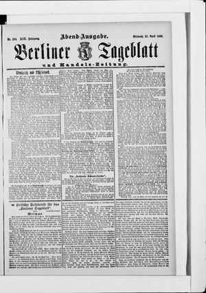 Berliner Tageblatt und Handels-Zeitung vom 23.04.1890