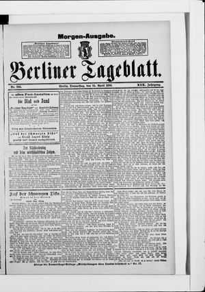 Berliner Tageblatt und Handels-Zeitung vom 24.04.1890
