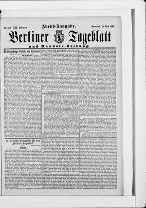 Berliner Tageblatt und Handels-Zeitung vom 26.04.1890