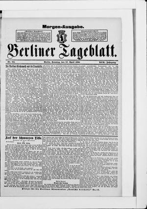 Berliner Tageblatt und Handels-Zeitung vom 27.04.1890