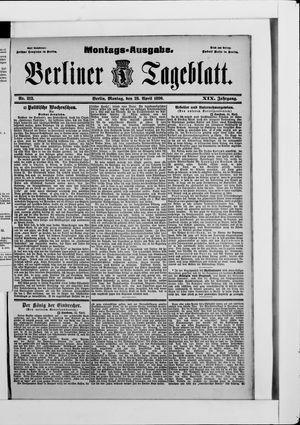 Berliner Tageblatt und Handels-Zeitung vom 28.04.1890