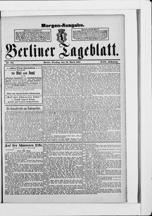 Berliner Tageblatt und Handels-Zeitung vom 29.04.1890
