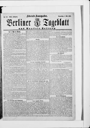 Berliner Tageblatt und Handels-Zeitung vom 30.04.1890