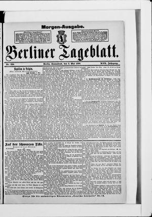Berliner Tageblatt und Handels-Zeitung vom 03.05.1890