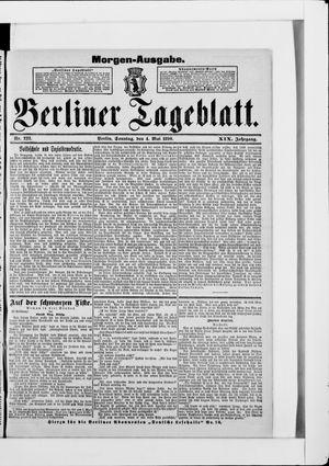 Berliner Tageblatt und Handels-Zeitung vom 04.05.1890