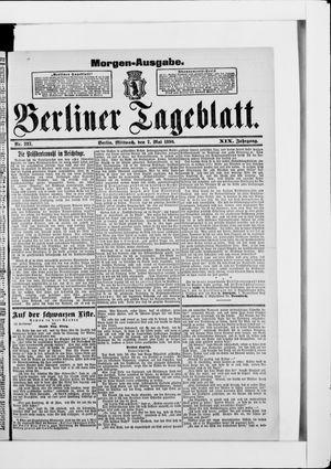 Berliner Tageblatt und Handels-Zeitung vom 07.05.1890