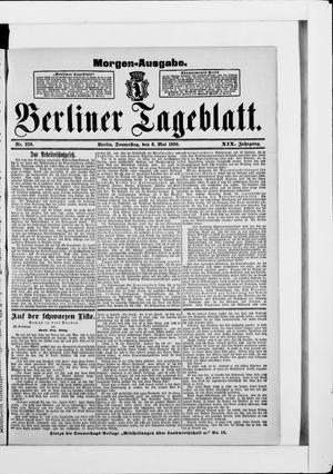 Berliner Tageblatt und Handels-Zeitung vom 08.05.1890
