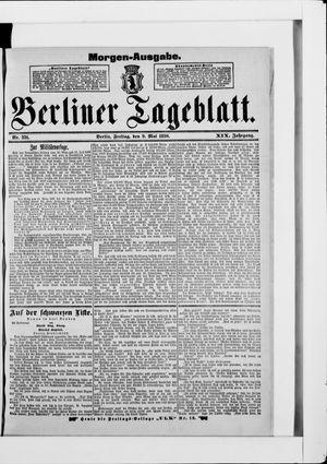 Berliner Tageblatt und Handels-Zeitung vom 09.05.1890