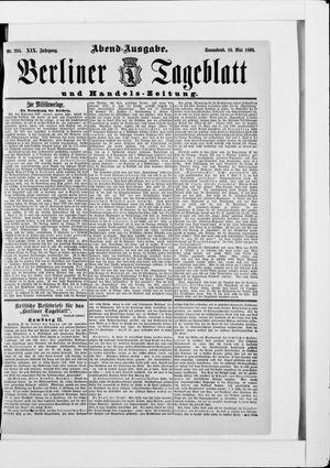Berliner Tageblatt und Handels-Zeitung vom 10.05.1890