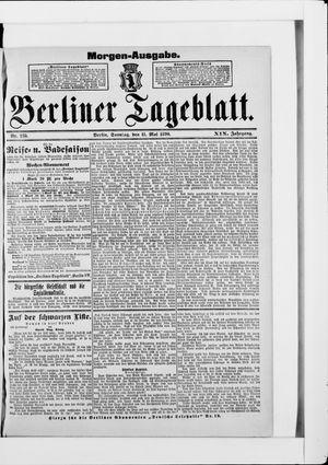Berliner Tageblatt und Handels-Zeitung vom 11.05.1890