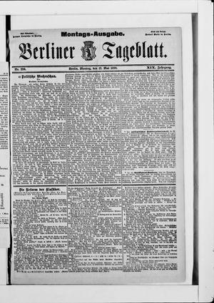 Berliner Tageblatt und Handels-Zeitung vom 12.05.1890