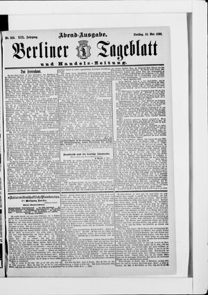Berliner Tageblatt und Handels-Zeitung vom 13.05.1890
