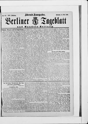 Berliner Tageblatt und Handels-Zeitung vom 14.05.1890