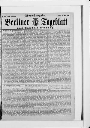 Berliner Tageblatt und Handels-Zeitung vom 15.05.1890