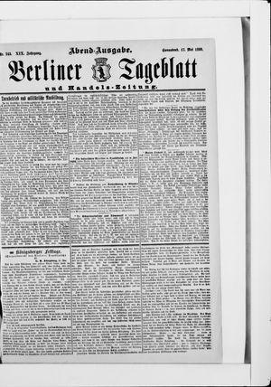 Berliner Tageblatt und Handels-Zeitung vom 17.05.1890