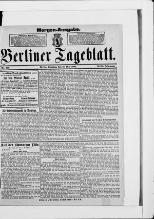 Berliner Tageblatt und Handels-Zeitung vom 18.05.1890