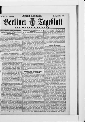Berliner Tageblatt und Handels-Zeitung vom 19.05.1890