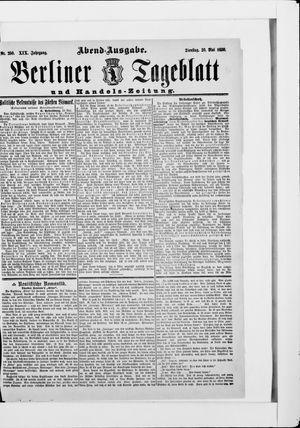 Berliner Tageblatt und Handels-Zeitung vom 20.05.1890