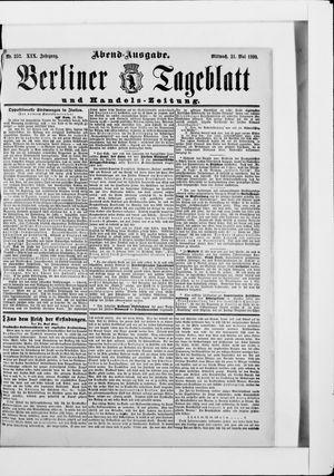 Berliner Tageblatt und Handels-Zeitung vom 21.05.1890